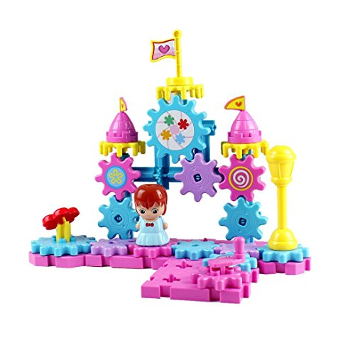 ClodeEU Gears Building Set Imagine Educational Construction Building Sugar Toy Girl Gift