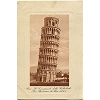 1910 Pisa - Il Campanile della Cattedrale, G. e Bonanno da Pisa 1174 - FP B/N VG Cartolina Postale