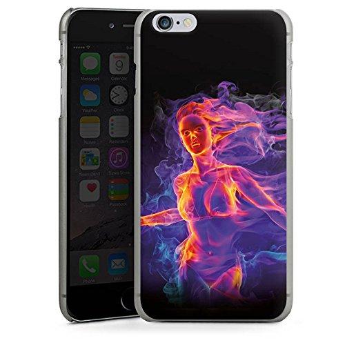 Apple iPhone X Silikon Hülle Case Schutzhülle Feuer Frau Zaubern Hard Case anthrazit-klar
