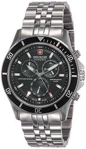 Swiss Military Hanowa Herren-Armbanduhr XL Analog Quarz Edelstahl 06-5183.04.007