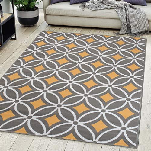 Carpeto Rugs Alfombra De Salón Moderna De Pelo Corto Diseño Gris 1 300x400 cm Grande XL