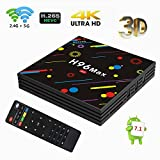 TV box,H96 max Android 7.1 DDR3 4Go/32Go eMMC Amlogic S912 Octa-Core 64bit 4K Ultra HD Dual WiFi 2.4 G/5.0G Gigabit 1000M Android TV Box Smart Box