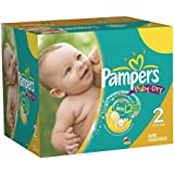 232 Couches Pampers Baby Dry Taille 2 Mini (3-6kg)