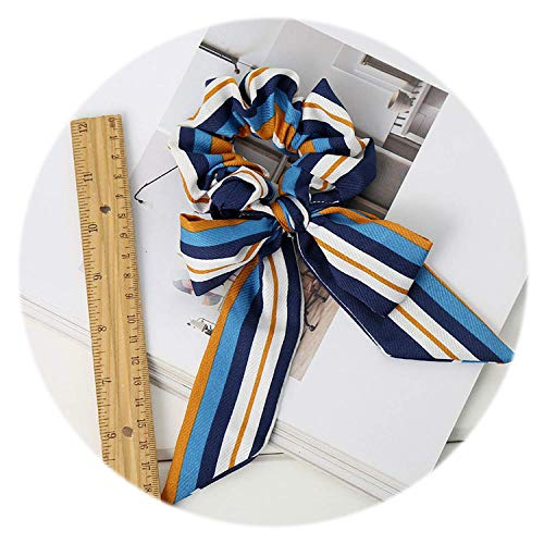 OULN1Y Stirnband 1pcs Bowknot Stripe Scrunchies Women Hair Accessories Rubber Elastic Hair Bands Ponytail Holder Bows Hair Tie Hairband,3 Stripe Bow Tie
