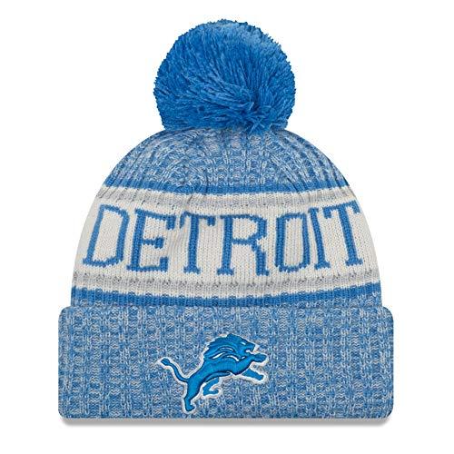 dfa5c05065091c New Era NFL Sideline Bobble Knit 2018/2019 Season Beanie (Detroit Lions)