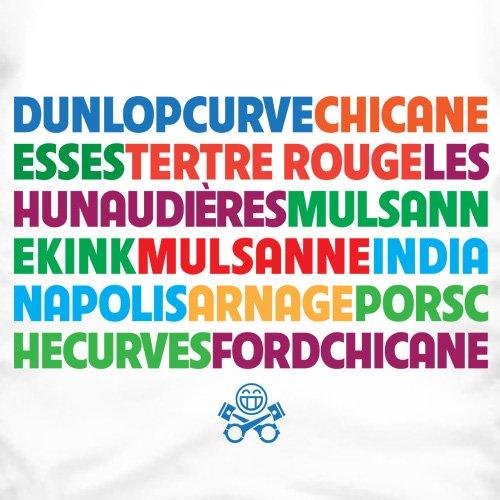 PistonHeads Circuit de la Sarthe T-shirt, Uomo Bianco