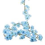 LIZONGFQ 2 Metri Lungo Fiore Artificiale di Ciliegio Rattan Ghirlanda Pianta Verde Vite Falso Foglia Fiore Decorativo per Famiglia Plastica Fiore Rattan Stringa,3