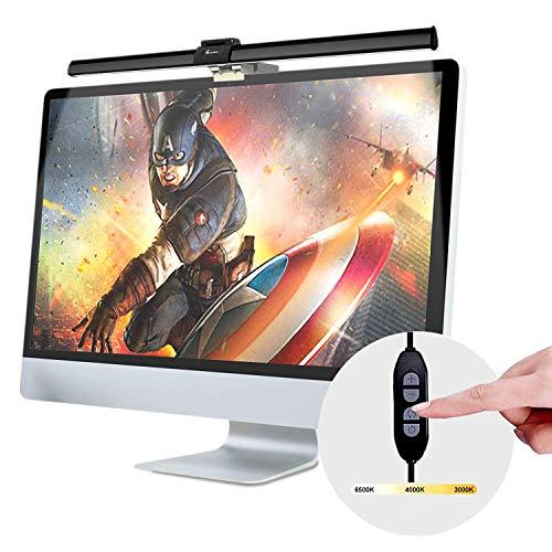 ScreenBar e-Reading Arbeitslampe, USB Angetrieben Computer Monitorlampe, Einstellbare Helligkeit und Farbtemperatur, Hängen Sie es an Monitore zu Platz Sparen, Augenpflege, Keine Bildschirmblendung
