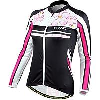 Poliéster manga larga mujer Santic wipods bicicleta Jersey, color , tamaño small