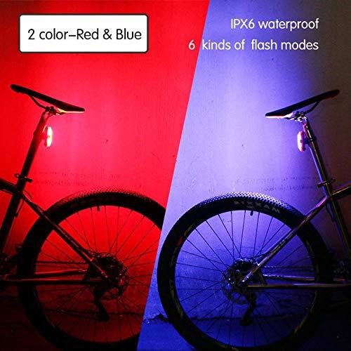WOOAI 120Lumens USB Recargable luz Posterior Bicicleta