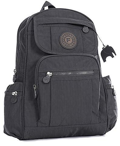 Big Handbag Shop Mini sac à dos en tissu léger - Gris - gris, One