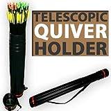 Telescopic Archery Quiver Arrow Holder Tube Back Case