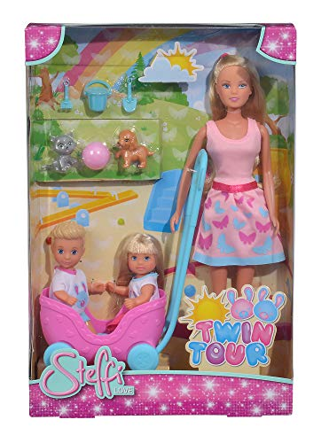 Simba 105733229 Steffi Love Twin Tour (Twin Barbie-puppen)