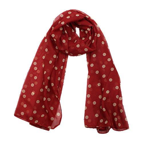 Impression tendance femme en chiffon avec motif à une écharpe écharpe pansements 5 couleurs - Rouge bordeaux