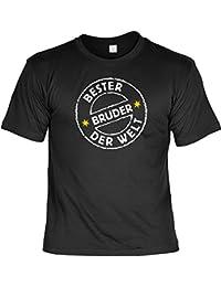 Sprüche Fun Tshirt Bester Bruder der Welt in schwarz : )