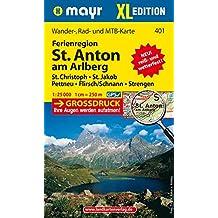 St. Anton am Arlberg XL: Wander-, Rad- und Mountainbikekarte. GPS-genau. 1:25000 (Mayr Wanderkarten)