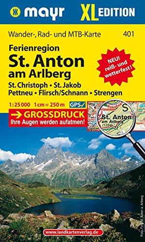 Preisvergleich Produktbild St. Anton am Arlberg XL: Wander-, Rad- und Mountainbikekarte. GPS-genau. 1:25000 (Mayr Wanderkarten)