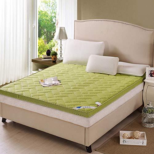 Unbekannt WL Dicke Tatami-etage Matratze,zonenschlägerim Schlafsaal Für Futon-Pads Klappbare Feste Farbbettrolle Für Zu Hause,6cm-grün 90x190cm(35x75inch)