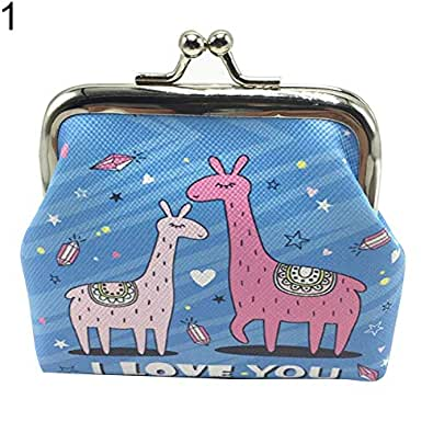 bigcity Cartoon Sheep Faux Leather Kiss Clasp Mini Money Bag Wallet Girls Coin Purse 1# Onesize