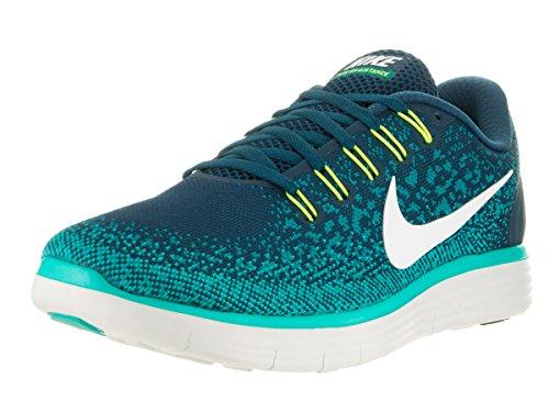 Nike Free Rn Distance, Scarpe da Corsa Uomo Turquesa (Midnight Turq / Off White-Rio Teal)