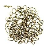 Ruby - Mousquetons pivotants à 360°, Fermoirs en Pince de Homard (Bronze, 50 pcs)