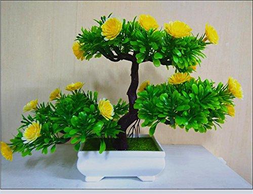 artificial Bonsái Bonsai sintético decorativo Artificial flor de la planta con Potted Decoración tabla sala estar afortunada Feng Shui Decorativa árboles floración , #3