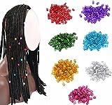 cuhair Haarspange, Zopfhalter, Haarclip, Flechtperlen, Stylingzubehör, für Frauen, Mädchen, Jungen, Männer, bunt, 100 Stück