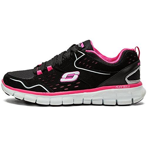 Skechers SynergyA Lister, Sneakers Basses femme Noir (BKHP)