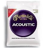 Martin 6-Saiten-Satz für Akustikgitarren 80/20 Bronze Stärke Light .012-.054 3 Sätze