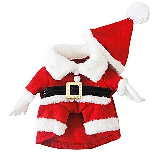 Eastlion Hund Weihnachten Weihnachtsmann Kostüm Haustier Hund Kleidung Winter Kleid S