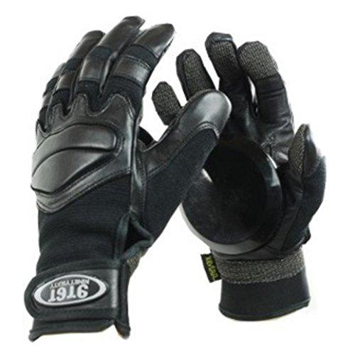 Ninetysixty Slide Handschuhe Longboard Gloves Schwarz - Skateboard Handschuhe Black - Slidegloves, Grösse:S (Longboard Skateboard Slide Handschuhe)