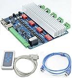 Graviermaschine Treiber 4 Achse CNC Driver Board USB TB6560 2 Phasen-Schrittmotor-Treiberplatine Remote Controller NEMA23