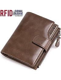 49991a20ae81 Portefeuille Cuir Homme RFID Blocage Petit Porte Monnaie Homme avec 12  Emplacements Cartes et Poche à