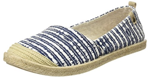 Roxy Damen Flamenco Espadrilles, Blau (Navy/White), 38 EU (Schuhe Canvas Roxy)