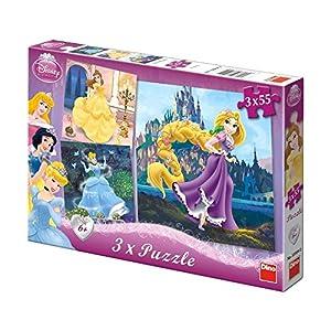 Dino Toys Dino Toys335042 Princesa de Madera 3 Puzzle (55 Piezas)