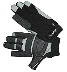 Bootsport Navyline Segelhandschuhe Amara Kunstleder 2 Finger geschnitten Handschuhe Segeln Bekleidung