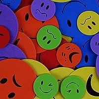 White Hinge 300x Funny Face Emoji Stickers - Kids/Childrens Fun Arts & Crafts Foam Shapes