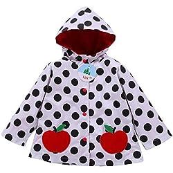LZH Impermeable Para Bebé Niña Con Capucha Estampado De Mariposa Y Flores