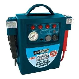 Cleva Tools ®  5597 Jump Starter Air Compressor &Inverter (umweltfreundlich verpackt), 1 Stück, Min, 3 Jahre Garantie