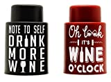 VinoPlease Wine Stoppers (2-Pieces)