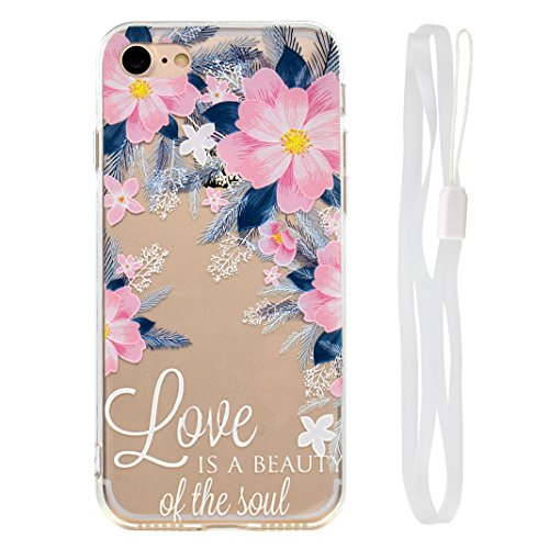 "Coque iPhone 6 Silicone Housse,Etui iPhone 6S Gel Transparente Case Cover Rosa Schleife® 4.7"" Apple iPhone 6 TPU Silicone Gel Souple Case Coque de Protection Portable Smartphone pochette Transparente  57-style"