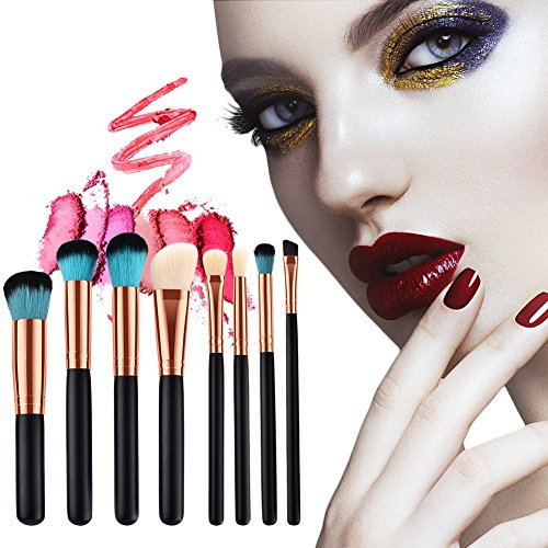 8 Stück Make-up Pinsel Kosmetik Foundation Gesichtspuder Blush Augenbraue Tool Kit Kosmetik Set (T-08-055)