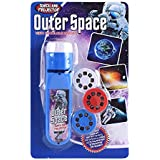 Torch and Wall Projector Dinosaur Unicorn Sea World Projector Kids Play Toys Set Educational Toy (Outer Space)