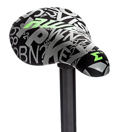 AWE® BMX Freestyle Sattel schwarz/grau gratis Sattelstütze