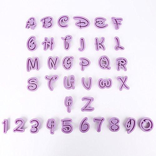 36x moule lettres chiffres Découpe Pâte Emporte-pièce pour biscuit gâteau