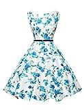 GRACE KARIN Abito da sposa partito dei vestiti Hepburn stile pannello esterno pieno delle donne Floral-23
