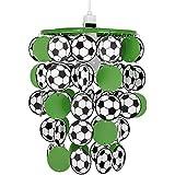 Moderner grüner, schwarzer und weißer Lampenschirm für Hänge- und Pendelleuchte, Wasserfall-/Fußballförmig fürs Kinder- oder Schlafzimmer