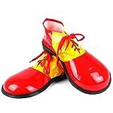Zubita Clown-Schuhe, Clown Kostüm Zubehör Kunstleder Clowns Schuhe & Zirkus Kostüm für Clown, 35 * 16CM, Rot