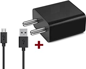 Fast Charger Compatible For Xiomi Mi Note 4 / Mi 5A / Mi Note 5 / Note 5 Pro Charger Adapter Like Mobile Charger Xiomi Redmi 3S Prime / Xiomi Mi Redmi 4 / Redmi 4A /Redmi Note 5/Redmi 5/Redmi 5A/ Redmi Note 4 Compatible Charger Like Wall Charger With 2 ampere 1 Meter Micro USB Cable Charging Data Cable 1 Mtr.-(White/Black) By Ahmad Enterprise