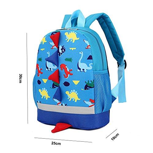 Imagen de dafenq 3d dinosaurio  infantil niño  escolares juveniles dinosaurio patrón animales guardería  viaje bolsos primaria bolsa de la escuela rosa  alternativa